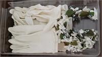 White Gloves, Artificial Flower Crown