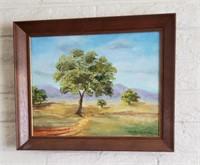 Framed & Signed Tree Art
