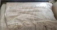 White Knit Type Blanket