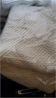 White Open Weave Blanket # 1
