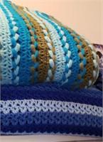 Crocheted Blue Blankets