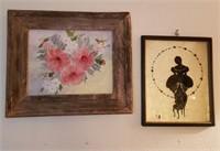 Framed Rose Art, Sillouite Art