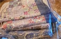Dark Blue Edge Quilt, Other Blue Quilt