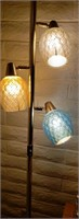 Vintage Floor To Ceiling Lamp Blue, Yellow, White