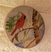 Round Cardinal Wall Decor