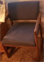 Dark Blue Armed Chair