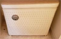 Short Wicker Type Laundry Basket