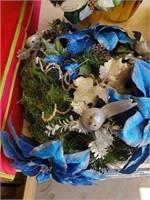 Blue Artificial Flower Decor