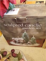 Sculptured Candle Garden Set