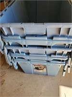Blue Plastic Storage Buckets
