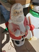 Plastic Santa Decor