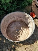 Large Round Galvanized Pot #2