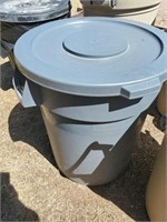 Blue Plastic Trash Can