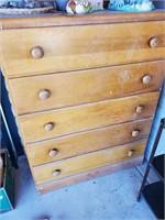 5 Drawer Wooden Dresser