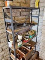 Gray Metal Shelf