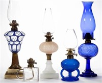 Selection of early kerosene lighting