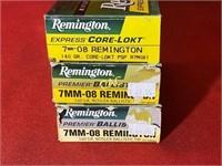 20rds Remington 7mm-08rem 140gr