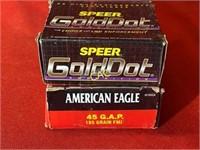 90rds Asst Brand 45 Ammunition