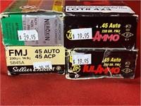 200rds Asst Brands 45auto Ammunition
