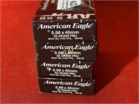 20rds American Eagle 5.56x45mm 55gr FMJ
