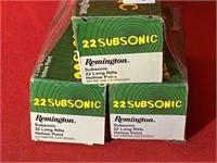 500rds Remington 22subsonic 22lr HP