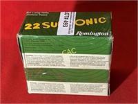 500rds Remington 22subsonice 22lr HP