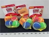 3- 4pks. KONG SqueakAir Balls