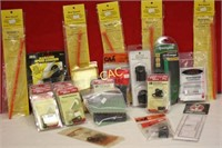 Box Lot of Asst Gun Parts, Loaders, Sights