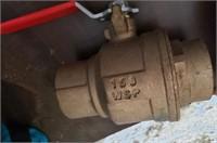 1 1/4 Brass valve
