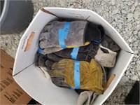 Box of new work gloves