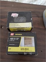 2 boxes of nails