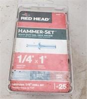 "Red Head 1/4"" x 1"" Hammer Set"