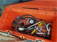 Orange tool box full