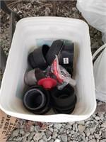 Bucket of plumbing items