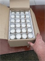 Case of 72 votive candles, used