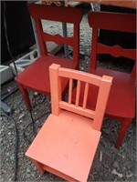 3 toddler sized Chairs