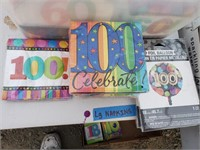 100th Birthday Party Supplies Lot *new*