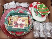 Christmas Box Lot #3  Christmas theme dishes and