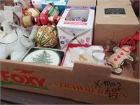 Christmas Box Lot #5  Assortment of ornaments