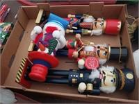 Christmas Box Lot #8  Nutcrackers - Need repair,