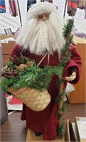 Santa with Pinecone Basket