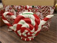 Christmas Candy Ceramic Teapot