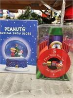 Peanuts Snowglobe and Train Box Set