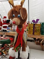 Plush Rudolph Decor, between 2 and 3 feet tall