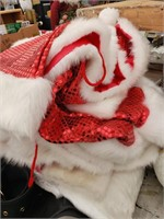 Lot of Sequin Santa and Mrs. Clause Clothing