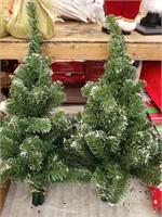 2 Faux Tree pieces