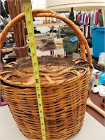 Wicker Basket and Contents