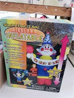 8 Foot Airblown  Inflatable Party Clown