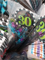 30th Birthday Lot #1 *NEW* Plates, Napkins, Wall