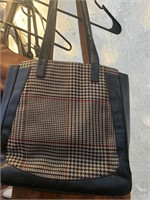 Lot of 2 Purses- Brown and Navy Plaid